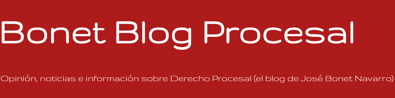 Bonet Blog Procesal